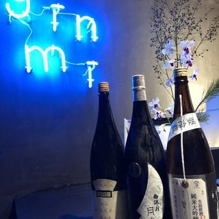 日本酒唎酒師、ワインソムリエ厳選ワイン、日本酒60種類常備!