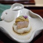 銀座 しのはら - 先付 湯葉豆腐 牡丹海老 岩手の雲丹