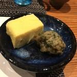 鮨匠 のむら - 出汁巻きとトビウオのさつま揚げ