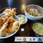 ハナマル霞庵 - 天丼とおろしそばセット