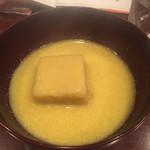 蕎麦切り 酒 大愚 - トウモロコシ豆腐入のすり流し