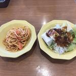 ヴィクトリアステーション - サラダおかわりとスパゲッティ