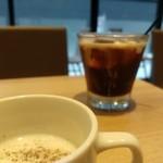 APRON The DINER - 先出しアイスコーヒーと冷製スープ旨。