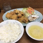 群鳳 - 料理写真:とりからあげ定食850円
