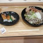 おぼろや - 料理写真:「越前おろしそばと焼き鯖寿司」