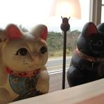 炉蓮2 - 招き猫のお出迎え