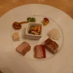 Ginzahouen - 香港バーベキュー入りシェフお薦め前菜の盛り合わせ