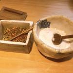 石臼挽き手打 蕎楽亭 - 薬味