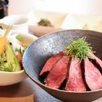 さんぽう西村屋 - 【ランチ】但馬牛ステーキ丼