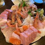 居酒屋まいど - 料理写真:刺し盛り2人前  1人前 ¥2000
