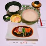魚々屋 - とろろ汁と金目鯛煮付け定食
