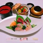 魚々屋 - 刺身盛合せ定食