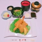 魚々屋 - フライ盛合せ定食