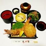 魚々屋 - ジャンボミックス海老フライ御膳