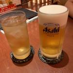 そばDining 結月庵 - (ほろ酔いセット)そば茶ハイと家内のビール