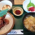 115219095 - 刺身付きいかめしせんべい汁定食 1,450円(税込)