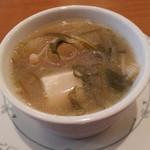 11522889 - 本日のスープ(大根と豆腐のみそスープ♪)