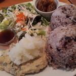 11522895 - 豆腐ハンバーグランチ780円+50円(16穀米大盛り♪)