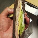 スターバックスコーヒー - ハムチーズサンドイッチ ※拡大 (2019.09.09)