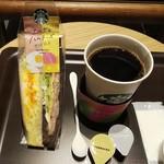 スターバックスコーヒー - ドリップコーヒーとエッグ&ハムチーズサンドイッチ (税込)874円 (2019.09.09)
