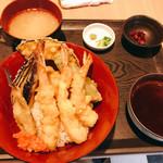 築地 刺天 - 天ぷら丼定食