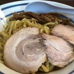 115233217 - つけ麺1.5玉(750円) バラチャー、干筍メンマ