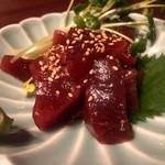 日本酒chintara 燻ト肉 - 料理写真:インド鮪上赤身の漬け刺し