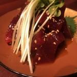 日本酒chintara 燻ト肉 - 料理写真:漬け鮪の利休和え