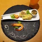 あか牛Dining yoka-yoka - 本日の前菜盛り合わせ880円。