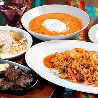 本格的なペルー料理が充実★「ペルー料理紹介コース」もイチオシ