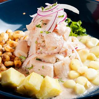 さっぱりと味わえる前菜◆本場でも人気のマリネ「セビーチェ」