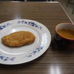 大判焼 - 料理写真:豚ちゃん焼 & 冷たいお茶
