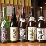 寿司居酒屋 喜八 - お酒集合