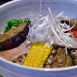 蕎麦きり みよた - [季節限定]冷し鴨茄子そば@780円