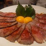 motsukaratomizutakimotsunabeyuno - 黒毛和牛ローストビーフ