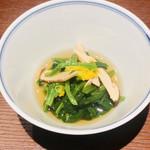 115279540 - 【先付】                       ・ほうれん草と松茸のお浸し