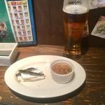 バルザル - おつまみ2品/生ビール