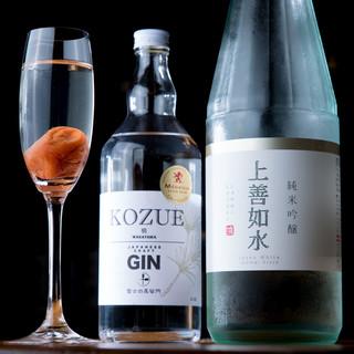 日本酒以外も◎お米を原料とした焼酎やリキュールなども楽しめる