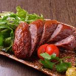 たかの家 - 料理写真:鹿肉のソーセージ
