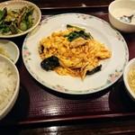 チャイナRai 中国料理 - 豚肉と玉子、キクラゲ炒め
