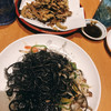大安丸 - 料理写真:ゴーヤチップスとイカスミソーミンチャンプルー