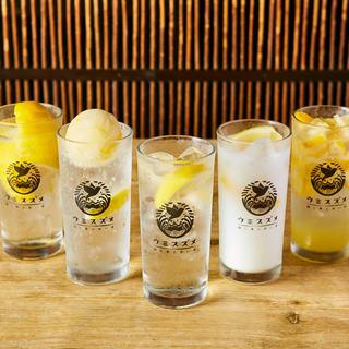 いま大流行のレモンサワーを6種ご用意
