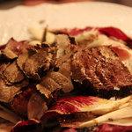 オステリア ベオーネ - 鹿のタリアータ/季節で旬のお肉が楽しめます。