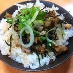 Fukuyoshitei - チャーシュー丼。ラーメンセットで500円^^