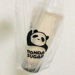 パンダシュガー - 黒米ミルクティー Lサイズ650円