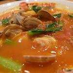 太陽のトマト麺 - 太陽のボンゴレ麺