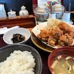 115318966 - 鶏の唐揚げ明太風味定食