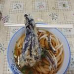 宮川製麺所 - うどん(小)と茄子天