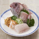 ホテルオークラレストラン新宿 中国料理 桃里 - 広東風 鯛の刺身