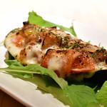 イタリアン酒場 SORRISOLE - 秋茄子の野菜詰めオーブン焼き@600円